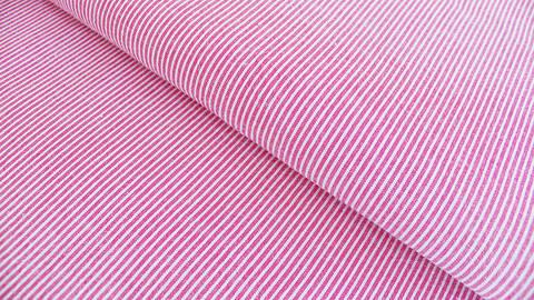 Baumwollstoff rot-weiß garngefärbt: Streifen - 137 cm kaufen im Makerist Materialshop