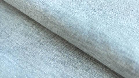 Hellgrauer Joggingstoff Melange: Glitter - 145 cm kaufen im Makerist Materialshop