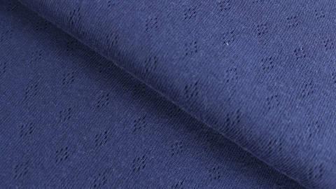 Navyblauer Baumwoll-Strickstoff: Pointoille - 140 cm kaufen im Makerist Materialshop