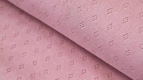 Baumwoll-Strickstoff rosa: Pointoille - 140 cm kaufen im Makerist Materialshop