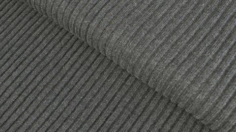 Dunkelgraues Ripp-Bündchen Melange - 75 cm kaufen im Makerist Materialshop