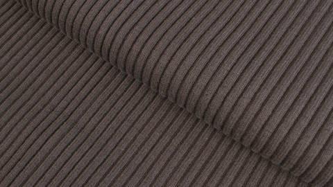 Dunkelbraunes Ripp-Bündchen Melange - 75 cm kaufen im Makerist Materialshop