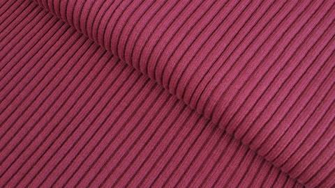 Bordeauxfarbenes Ripp-Bündchen Melange - 75 cm kaufen im Makerist Materialshop