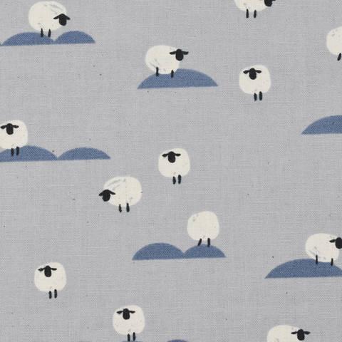 Cotton and steel - Panorama Cloud - Sheep Newspaper kaufen im Makerist Materialshop