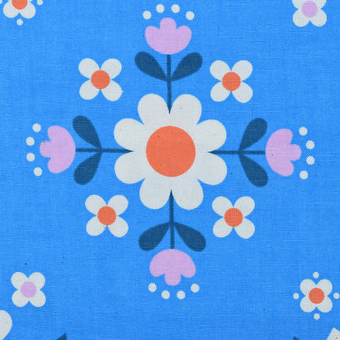 Cotton and Steel - Welsummer - Florametry Bright Blue kaufen im Makerist Materialshop