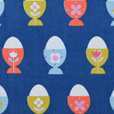 Cotton and Steel - Welsummer - Egg Cups Navy kaufen im Makerist Materialshop