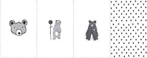 Rapport Sweatstoff weiß: Avalana Bären - 160 cm kaufen im Makerist Materialshop