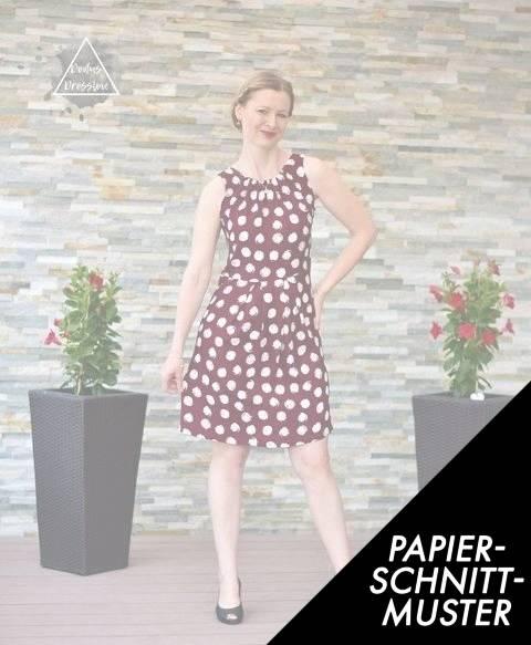 Gedrucktes Schnittmuster für: Damenkleid HILDE - Schnittmuster für Webware kaufen im Makerist Materialshop