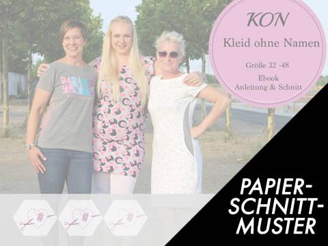 """Gedrucktes Schnittmuster für: Ebook """"KON"""" – Kleid ohne Namen – Gr. 32 – 48 kaufen im Makerist Materialshop"""