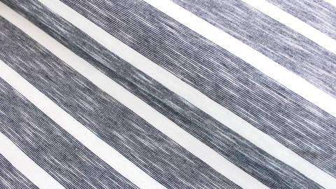 Navyblau-weißer Baumwoll Slub Jersey meliert : Kleine Streifen - 180 cm  kaufen im Makerist Materialshop