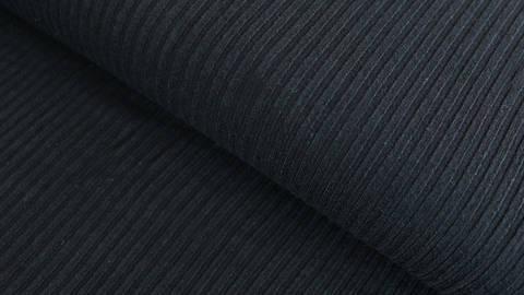 Schwarzer Cotelé Jersey - 150 cm  kaufen im Makerist Materialshop