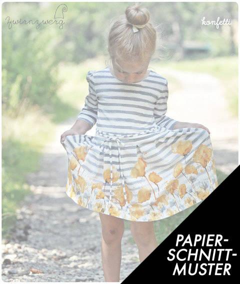 Gedrucktes Schnittmuster für: Freddi Mädchenkleid Gr. 86-164 kaufen im Makerist Materialshop