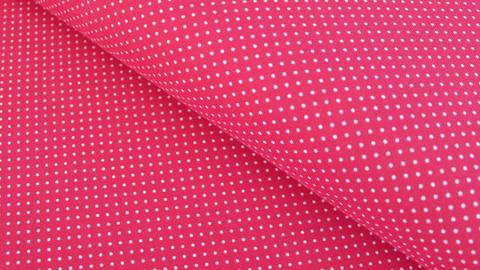 Rot-weißer Baumwolljersey: Sunny Pünktchen - 150 cm kaufen im Makerist Materialshop