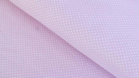 Rosa-weißer Baumwolljersey: Sunny Pünktchen - 150 cm kaufen im Makerist Materialshop