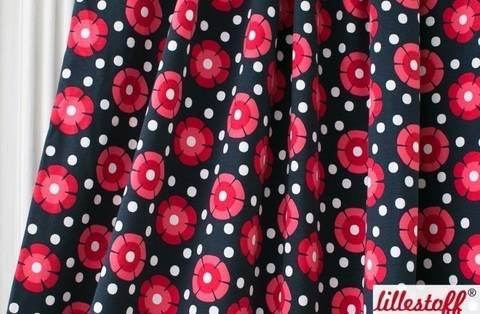 Lillestoff Bio-Jersey dunkelblau-pink: Danish Blossom - 150 cm kaufen im Makerist Materialshop