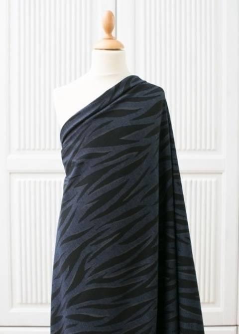 Lillestoff Jeansstoff grau-schwarz: Zebra - 160 cm kaufen im Makerist Materialshop