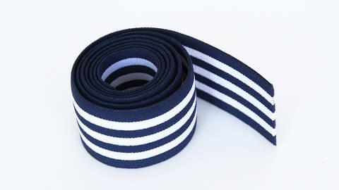 Elastisches Streifenband - blau-weiß - 4 cm  kaufen im Makerist Materialshop