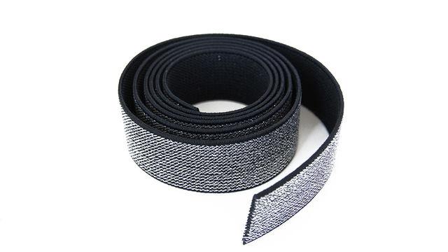 Elastisches Glitzerband - schwarz - 2,5 cm - Kurzwaren und Zubehör kaufen im Makerist Materialshop