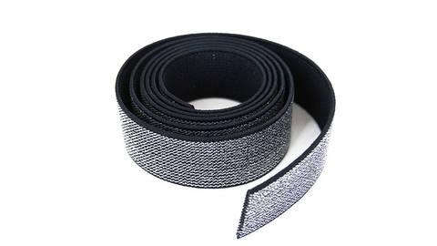 Elastisches Glitzerband - schwarz - 2,5 cm kaufen im Makerist Materialshop