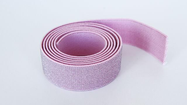 Elastisches Glitzerband - rosa - 2,5 cm - Kurzwaren und Zubehör kaufen im Makerist Materialshop