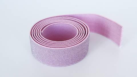 Elastisches Glitzerband - rosa - 2,5 cm kaufen im Makerist Materialshop