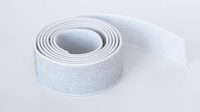 Elastisches Glitzerband - weiß - 2,5 cm - Kurzwaren und Zubehör kaufen im Makerist Materialshop