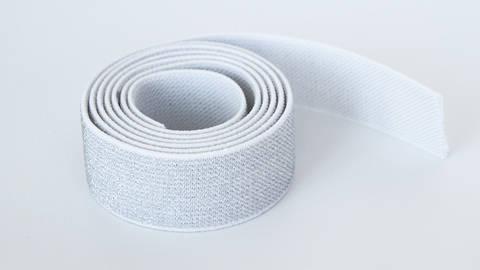 Elastisches Glitzerband - weiß - 2,5 cm kaufen im Makerist Materialshop