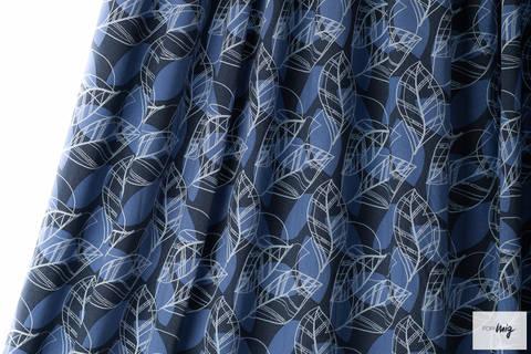Lillestoff Modalstoff blau-weiß: Bosca - 140 cm kaufen im Makerist Materialshop