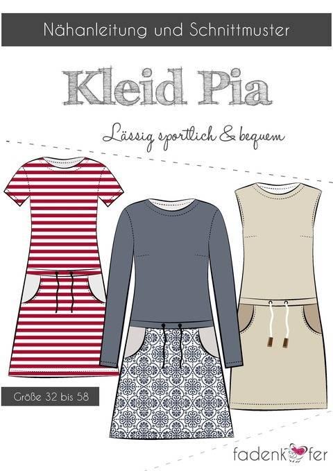 Fadenkäfer Nähanleitung und Schnittmuster gedruckt: Kleid Pia kaufen im Makerist Materialshop
