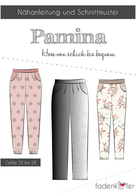 Fadenkäfer Schnittmuster und Nähanleitung gedruckt: Pamina Damen-Hose kaufen im Makerist Materialshop