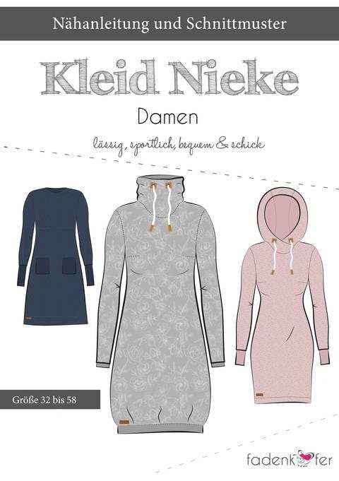 Fadenkäfer Schnittmuster und Nähanleitung gedruckt: Kleid Nieke kaufen im Makerist Materialshop