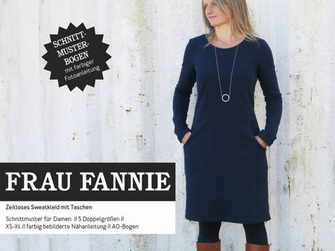 Studio Schnittreif - Schnittmuster und Nähanleitung gedruckt: Frau Fannie Sweatkleid kaufen im Makerist Materialshop