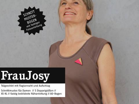 Studio Schnittreif - Schnittmuster und Nähanleitung gedruckt: Frau Josy Trägershirt kaufen im Makerist Materialshop