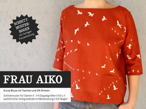 Studio Schnittreif - Schnittmuster und Nähanleitung gedruckt: Frau Aiko Bluse kaufen im Makerist Materialshop