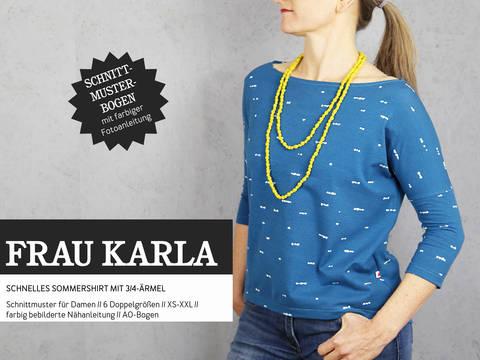 Studio Schnittreif - Schnittmuster und Nähanleitung gedruckt: Frau Karla Sommershirt kaufen im Makerist Materialshop