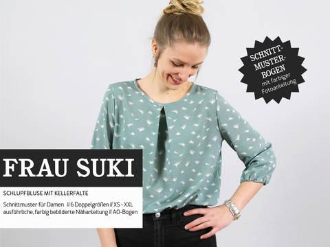 Studio Schnittreif - Schnittmuster und Nähanleitung gedruckt: Frau Suki Schlupfbluse kaufen im Makerist Materialshop