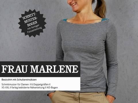 Studio Schnittreif - Schnittmuster und Nähanleitung gedruckt: Frau Marlene Basicshirt kaufen im Makerist Materialshop