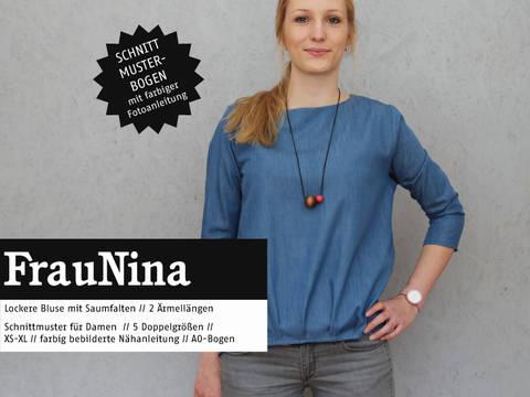 Studio Schnittreif - Schnittmuster und Nähanleitung gedruckt: Frau Nina Bluse kaufen im Makerist Materialshop