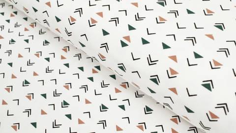 Baumwolljersey weiß: Dreiecke - 150 cm kaufen im Makerist Materialshop