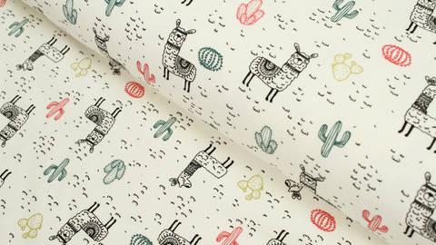 Acheter Jersey de coton motifs lamas - 150 cm dans la mercerie Makerist