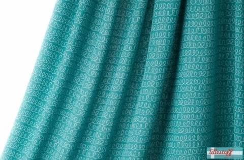Lillestoff Jacquardstoff petrol: Luiaard Waves - 140 cm kaufen im Makerist Materialshop
