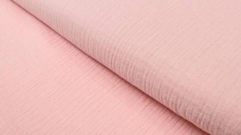 Baumwollstoff rosa Double Gauze - 132 cm kaufen im Makerist Materialshop