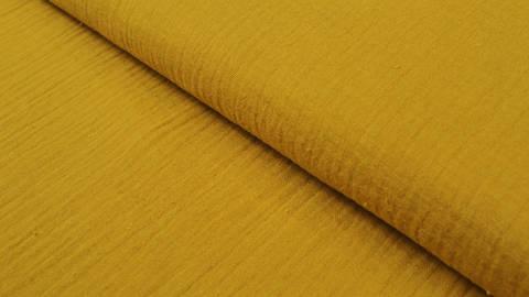 Baumwollstoff ocker Double Gauze - 132 cm kaufen im Makerist Materialshop