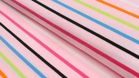 Jersey rosa: Bunte Streifen - 175 cm kaufen im Makerist Materialshop