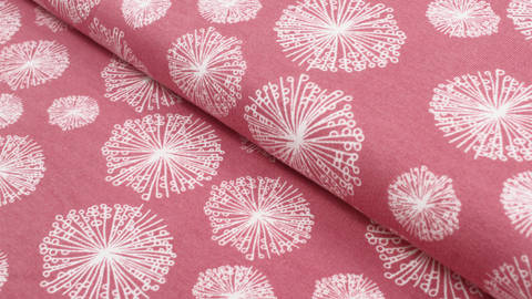 Acheter Tissu rose à motif pissenlit Avalana - 160 cm dans la mercerie Makerist
