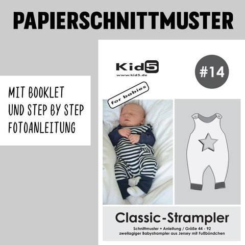 Kid5 Schnittmuster und Nähanleitung gedruckt: Classic-Strampler kaufen im Makerist Materialshop