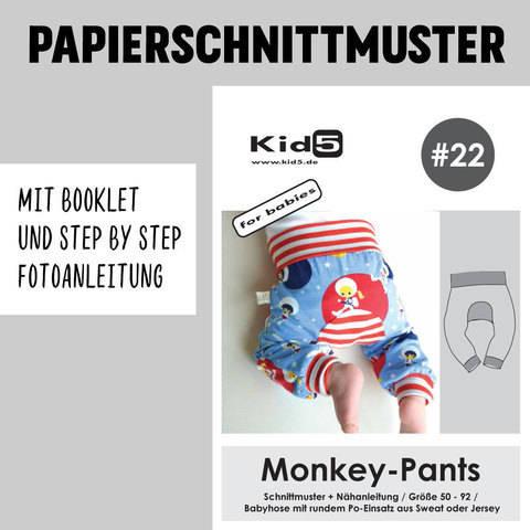 Kid5 Schnittmuster und Nähanleitung gedruckt: Monkey-Pants kaufen im Makerist Materialshop