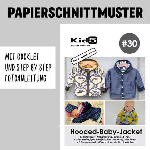 Kid5 Schnittmuster und Nähanleitung gedruckt: Hooded-Baby-Jacket kaufen im Makerist Materialshop