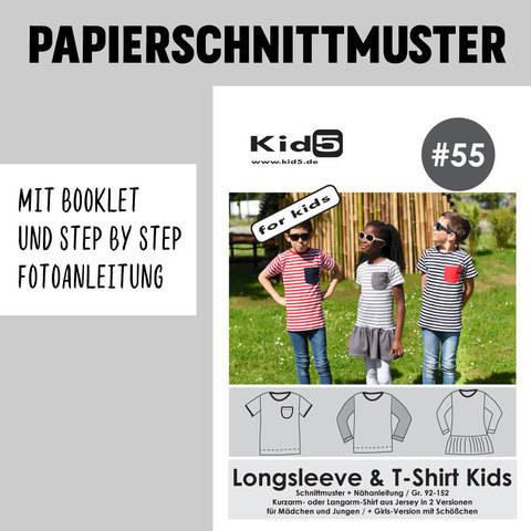 Kid5 Schnittmuster und Nähanleitung gedruckt: Longsleeve und T-Shirt Kids kaufen im Makerist Materialshop