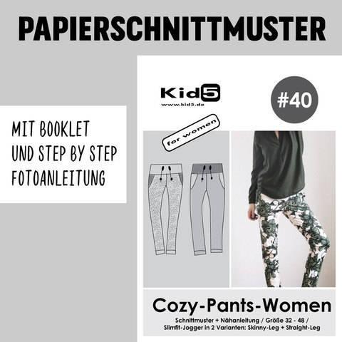 Kid5 Schnittmuster und Nähanleitung gedruckt: Cozy-Pants-Women kaufen im Makerist Materialshop